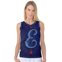 Marquis Love Dope Lettering Blue Red Alphabet E Women s Basketball Tank Top by Mariart