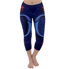 Marquis Love Dope Lettering Blue Red Alphabet O Capri Winter Leggings  by Mariart