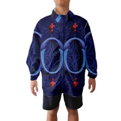 Marquis Love Dope Lettering Blue Red Alphabet O Wind Breaker (kids)