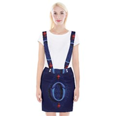Marquis Love Dope Lettering Blue Red Alphabet O Braces Suspender Skirt by Mariart