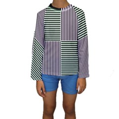 Mccollough Test Image Colour Effec Line Kids  Long Sleeve Swimwear by Mariart
