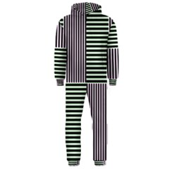 Mccollough Test Image Colour Effec Line Hooded Jumpsuit (men)  by Mariart