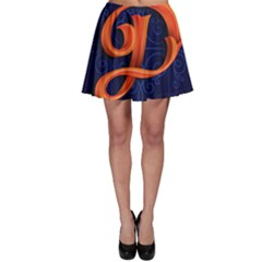 Marquis Love Dope Lettering Blue Red Orange Alphabet P Skater Skirt by Mariart