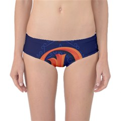 Marquis Love Dope Lettering Blue Red Orange Alphabet P Classic Bikini Bottoms by Mariart