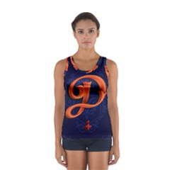 Marquis Love Dope Lettering Blue Red Orange Alphabet P Women s Sport Tank Top  by Mariart