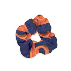 Marquis Love Dope Lettering Blue Red Orange Alphabet P Velvet Scrunchie by Mariart