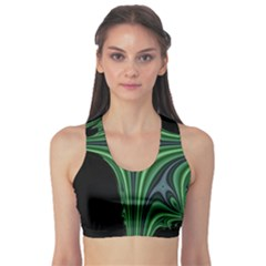 Line Light Star Green Black Space Sports Bra by Mariart