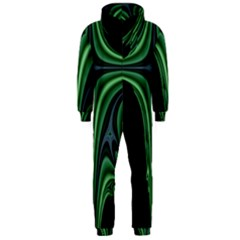 Line Light Star Green Black Space Hooded Jumpsuit (men)  by Mariart
