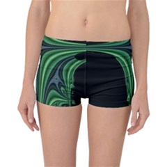 Line Light Star Green Black Space Reversible Bikini Bottoms by Mariart