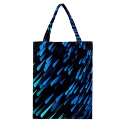 Meteor Rain Water Blue Sky Black Green Classic Tote Bag by Mariart