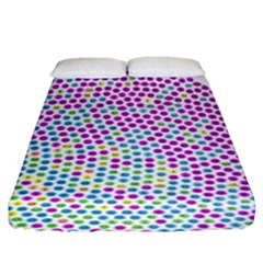 Japanese Name Circle Purple Yellow Green Red Blue Color Rainbow Fitted Sheet (king Size) by Mariart