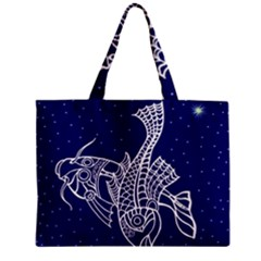 Pisces Zodiac Star Zipper Mini Tote Bag by Mariart