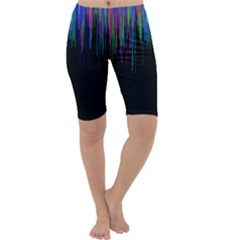 Rain Color Paint Rainbow Cropped Leggings  by Mariart