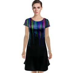 Rain Color Paint Rainbow Cap Sleeve Nightdress by Mariart