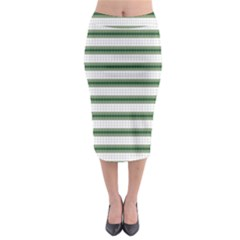 Plaid Line Green Line Horizontal Midi Pencil Skirt by Mariart