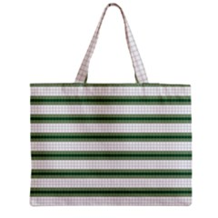 Plaid Line Green Line Horizontal Medium Tote Bag by Mariart