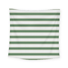 Plaid Line Green Line Horizontal Square Tapestry (small) by Mariart