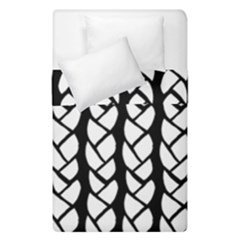 Ropes White Black Line Duvet Cover Double Side (single Size)