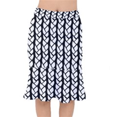 Ropes White Black Line Mermaid Skirt