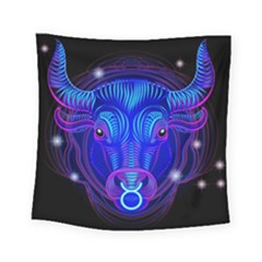 Sign Taurus Zodiac Square Tapestry (small) by Mariart