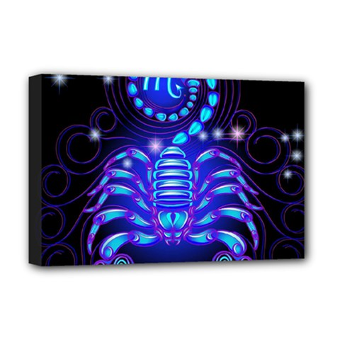Sign Scorpio Zodiac Deluxe Canvas 18  X 12   by Mariart
