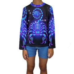 Sign Scorpio Zodiac Kids  Long Sleeve Swimwear by Mariart