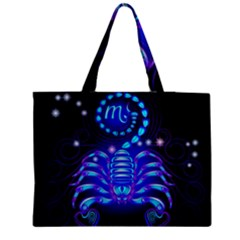 Sign Scorpio Zodiac Medium Zipper Tote Bag by Mariart