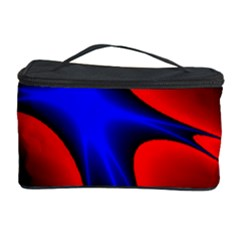 Space Red Blue Black Line Light Cosmetic Storage Case by Mariart