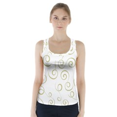 Pattern Racer Back Sports Top by ValentinaDesign
