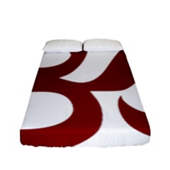 Hindu Om Symbol (dark Red) Fitted Sheet (full/ Double Size) by abbeyz71