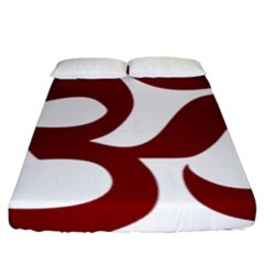 Hindu Om Symbol (dark Red) Fitted Sheet (king Size) by abbeyz71