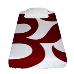 Hindu Om Symbol (dark Red) Fitted Sheet (single Size) by abbeyz71