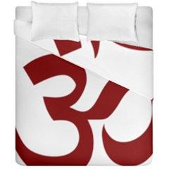Hindu Om Symbol (dark Red) Duvet Cover Double Side (california King Size) by abbeyz71