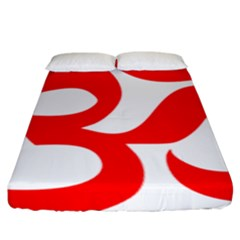 Hindu Om Symbol (red) Fitted Sheet (king Size) by abbeyz71