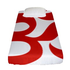 Hindu Om Symbol (red) Fitted Sheet (single Size) by abbeyz71