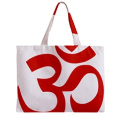 Hindu Om Symbol (red) Zipper Mini Tote Bag by abbeyz71