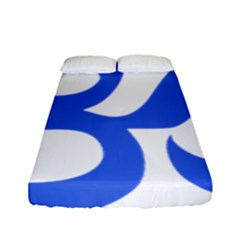 Hindu Om Symbol (royal Blue) Fitted Sheet (full/ Double Size) by abbeyz71