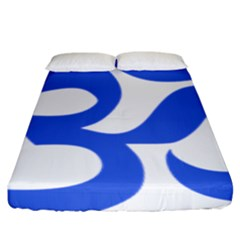 Hindu Om Symbol (royal Blue) Fitted Sheet (king Size) by abbeyz71