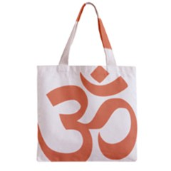 Hindu Om Symbol (salmon) Grocery Tote Bag by abbeyz71