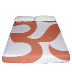 Hindu Om Symbol (salmon) Fitted Sheet (queen Size) by abbeyz71