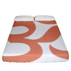 Hindu Om Symbol (salmon) Fitted Sheet (king Size) by abbeyz71
