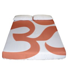 Hindu Om Symbol (salmon) Fitted Sheet (california King Size) by abbeyz71