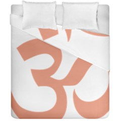 Hindu Om Symbol (salmon) Duvet Cover Double Side (california King Size) by abbeyz71
