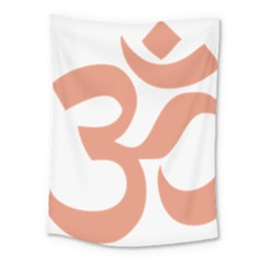 Hindu Om Symbol (salmon) Medium Tapestry by abbeyz71