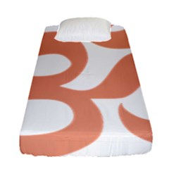 Hindu Om Symbol (salmon) Fitted Sheet (single Size) by abbeyz71