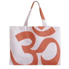 Hindu Om Symbol (salmon) Medium Zipper Tote Bag by abbeyz71