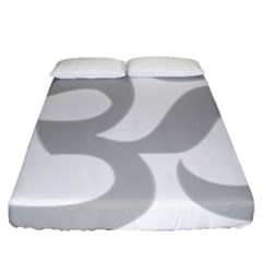 Hindu Om Symbol (gray) Fitted Sheet (queen Size) by abbeyz71