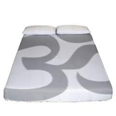 Hindu Om Symbol (gray) Fitted Sheet (california King Size) by abbeyz71