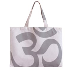 Hindu Om Symbol (gray) Zipper Mini Tote Bag by abbeyz71