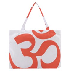 Hindu Om Symbol (peach) Medium Zipper Tote Bag by abbeyz71